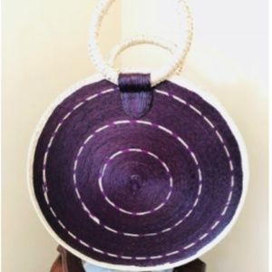 Mexican round summer tote